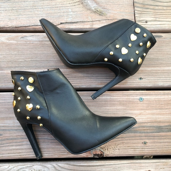 hot product quality products classic Love Moschino Shoes | Womens Black Studded Ankle Boots | Poshmark